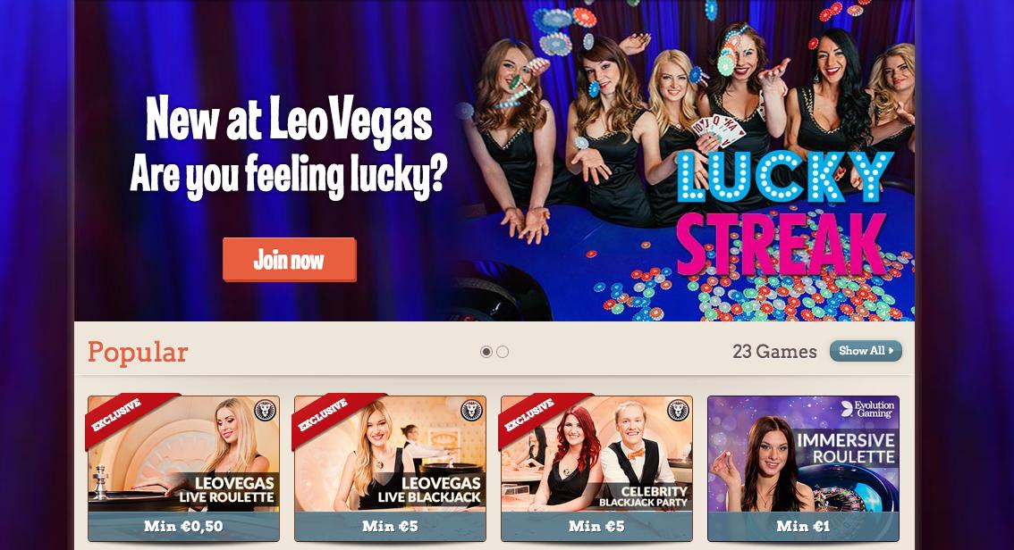 Leo Vegas Casino Recensie